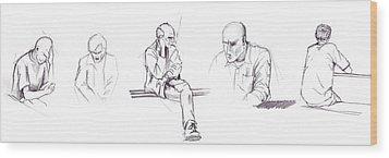 Sketchbook Wood Print by Mariusz Zawadzki