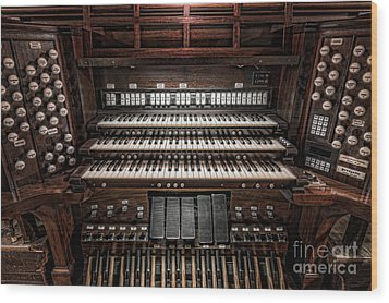 Skinner Pipe Organ Wood Print