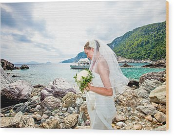 Skopelos Mamma Mia Wedding Wood Print by Nick Karvounis