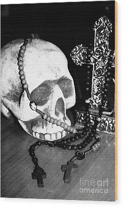 Skull 5 Wood Print
