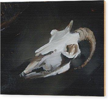 Skull Of Goat Wood Print