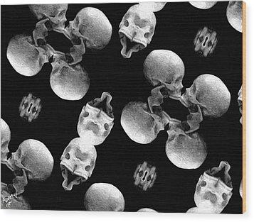 Skull Scope 8 Wood Print by Adam Vance