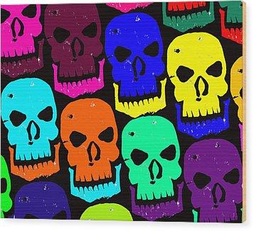 Skulls Wood Print by Jame Hayes