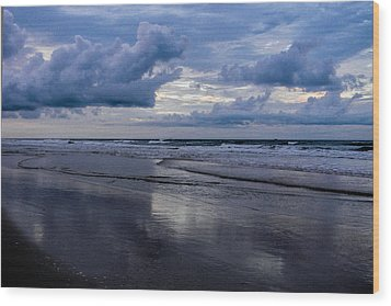 Sky And Shore Wood Print by Christy Usilton