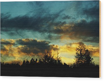 Sky Attitude Wood Print by Aimelle