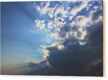 Sky Drama Wood Print by Kristin Elmquist