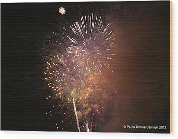 Wood Print featuring the photograph Sky-fire by Paula Tohline Calhoun