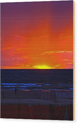 Wood Print featuring the photograph Sky Fire by Randall  Cogle