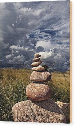 Sky Of Stone Wood Print by Gabriel Calahorra
