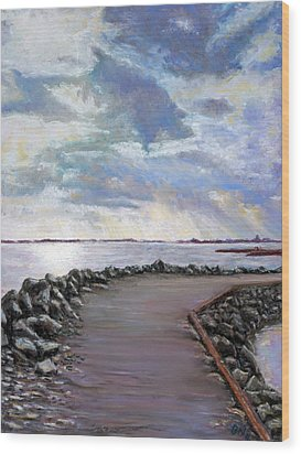 Sky Shore A Wood Print by Peter Jackson