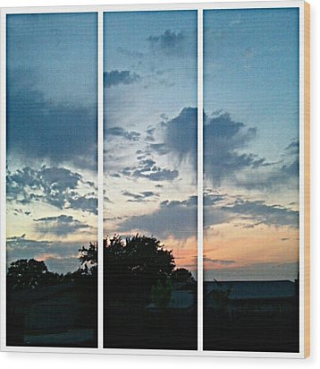 #sky #sunset #clouds #andrography Wood Print by Kel Hill