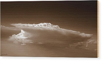 Sky Surfer Wood Print by Ed Smith