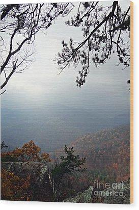 Skyline 3  Shenandoah National Park Wood Print by Steven Lebron Langston