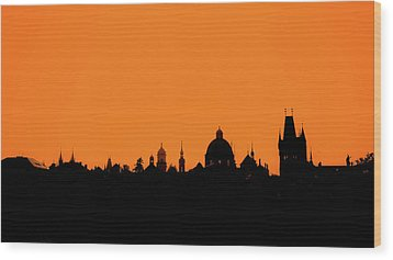 Skyline Over Charles Bridge, Prague Wood Print by Alexandre Fundone