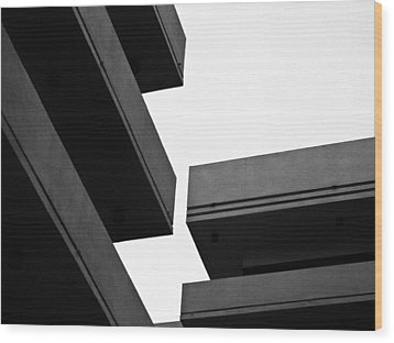 Skylines Wood Print by Tom Bush IV