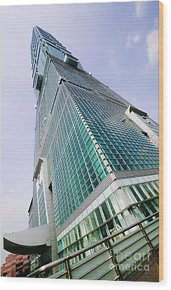 Skyscraper, Taipei 101 Building Wood Print by Jeremy Woodhouse