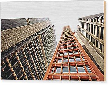 Skyscrapers Wood Print by Luiz Felipe Castro