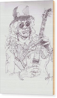 Slash - Solo Wood Print by Bobby LeVangie