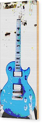 Slash's Guitar Wood Print by David Alvarez