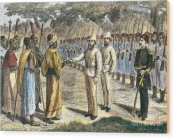 Slave Trader Surrenders To Baker, 1869 Wood Print by Photo Researchers
