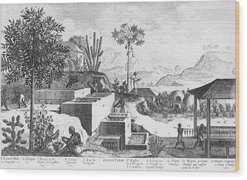 Slaves And Their Overseer Working Wood Print by Everett