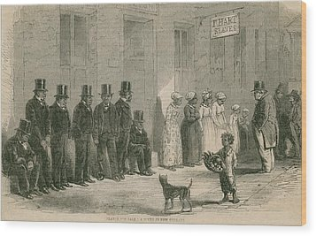 Slaves For Sale In New Orleans In April Wood Print by Everett