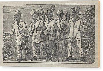 Slaves Often Travel In �coffles,� Wood Print by Everett