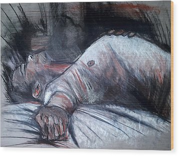 Sleep Wood Print by John Jr Gholson