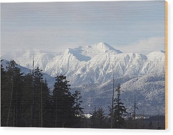 Sleeping Beauty Mountain Wood Print by Sylvia Hart