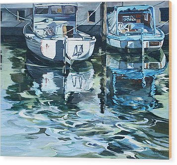 Sleepy Harbor 2 Wood Print by Rae Andrews