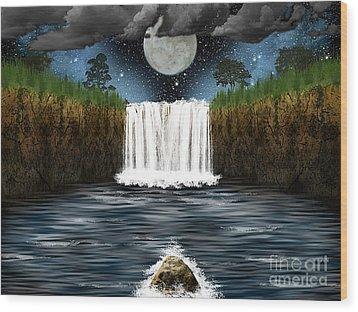 Sleepy River Wood Print by Thomas OGrady