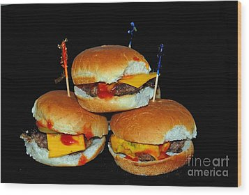 Sliders Wood Print by Cindy Manero