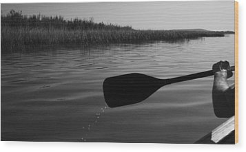 Slow Paddle Wood Print by Ellery Russell