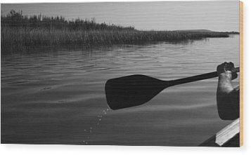Slow Paddle Wood Print