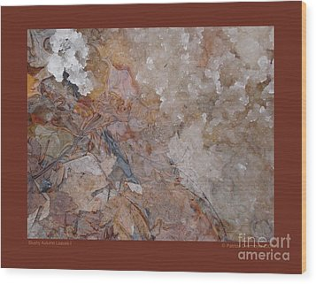 Wood Print featuring the photograph Slushy Autumn Leaves-i by Patricia Overmoyer