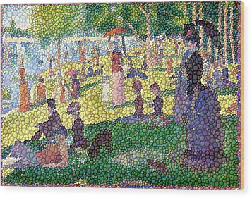 Small Bubbly Sunday On La Grande Jatte Wood Print by Mark Einhorn