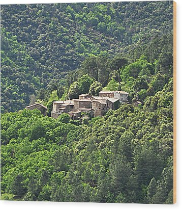 Small House On Mountain Wood Print by Filou-France