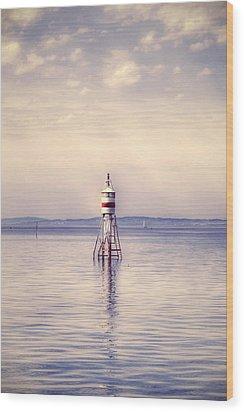Small Lighthouse Wood Print by Joana Kruse