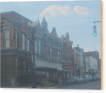 Wood Print featuring the photograph Small Town Proper by Tina M Wenger