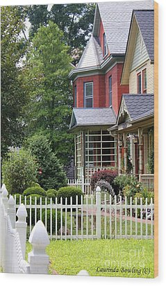 Small Town Usa Wood Print by Laurinda Bowling