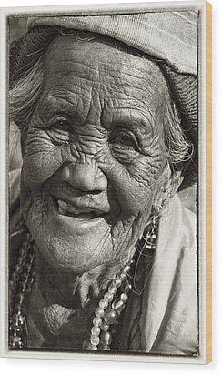 Smile Wood Print by Skip Nall