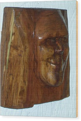 Smiling Wood Print by Charles Sims