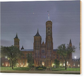 Wood Print featuring the photograph Smithsonian Castle by Metro DC Photography