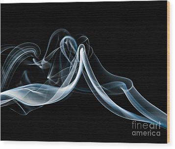 Smoke-1 Wood Print by Larry Carr