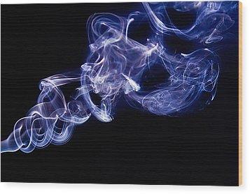 Smoke 11 Wood Print