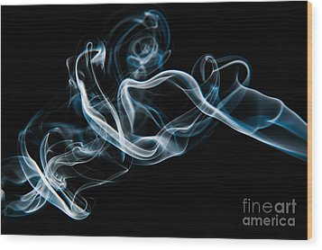 Smoke-2 Wood Print by Larry Carr