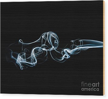 Smoke-3 Wood Print by Larry Carr