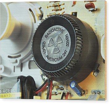 Smoke Detector Radiation Source Wood Print by Martin Bond