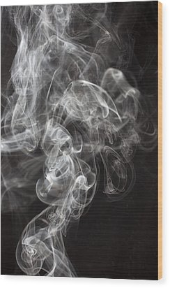 Smoke Swirls  Wood Print by Garry Gay