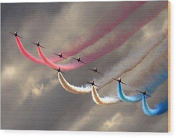 Smoke Swirls Wood Print